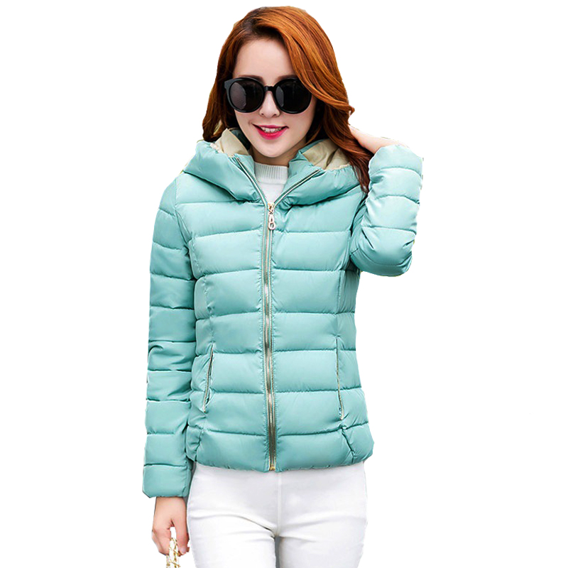 Snow wear wadded jacket female 2017 autumn and winter jacket women slim cotton-padded jacket outerwear winter coat women H111Одежда и ак�е��уары<br><br><br>Aliexpress