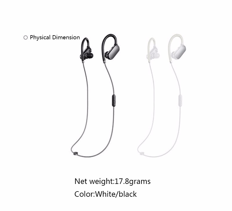 Original Xiaomi Mi Bluetooth 4.1 Headphone Wireless Sports Earphone with Mic IPX6 Waterproof Headset stereo earbuds for Xiaomi