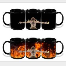 New Version ONE PIECE Color Changing Mug Portgas D Ace Colour Change Coffee Mug