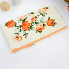 Luxury Face Fitness Soft Flower Towels Bathroom Wash Cotton Towel Washcloth