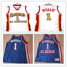 TRACY McGRADY 1 Dolphins McDonald ALL AMERICAN high quality Embroidery stitchin basketball jersey Retro throwback Cheap menswear