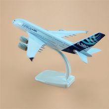 Metal Alloy Plane Model Air Prototype Aircraft A380 Airbus 380 Development Aircraft Airways Airplane Model w Stand For Kids Toys(China)