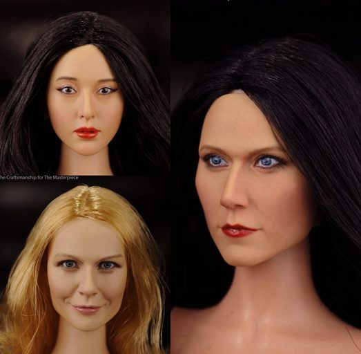 KUMIK 1:6 Scale female Figure accessories girl head shape carved for 12 Action figure doll,not include clothes;body and other<br>