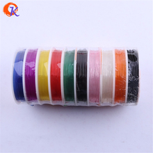 Cordial Design 1MM 10Rolls/lot Plastic Elastic Wire For Chunky Bracelet Making For Jewelry Kit (1roll=4M)(China)