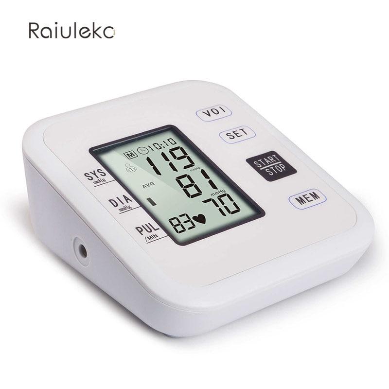 New Free Shipping Household Health Pressure Pulse Blood Pressure Monitor Digital Portable Hypertension oximeter Sphygmomanometer 13