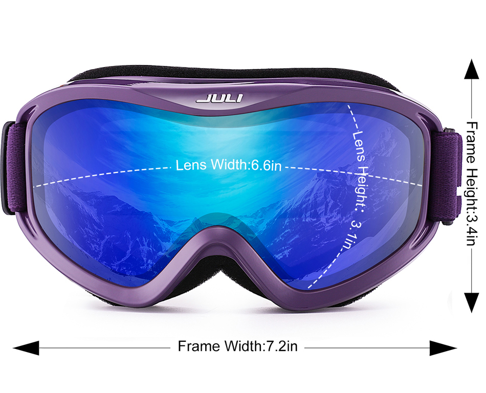 over glasses ski goggles