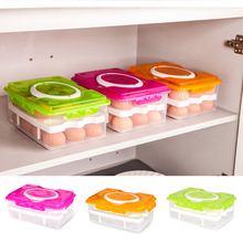 24 Grid Egg Food Container Organizer Convenient Storage Boxes Double Layer Durable Multifunctional Crisper Kitchen Products