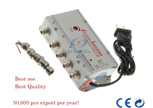 1 in 4 out  CATV Cable TV Video  Signal Amplifier AMP Booster Splitter Broadcast Equipments