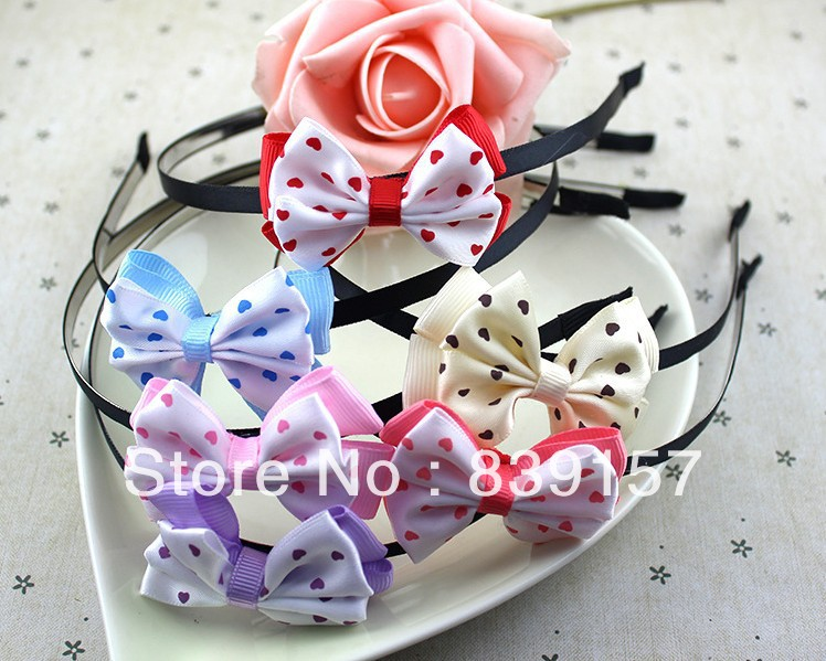 1pieces Fashion butterfly knot with dots head bands hair accessory headwear cheap price and best quality<br><br>Aliexpress