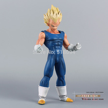 "Free Shipping Anime Dragon Ball Z Super Saiyan Vegeta PVC Action Figure Collection Model Toy 10"" 25cm"