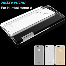 Nillkin nature Transparent Clear Soft silicon TPU Protector case cover for huawei honor 8 free shipping 5.2 inch honor 8