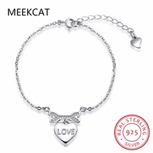 2017 New Dog Theme 925 Sterling Silver Bone Bangle Bracelet,love heart Charm Toggle Bracelet ,Animal Pet Lover Gift Pulseiras