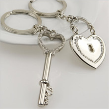 Metal heart-shaped keys couple key chain pendant romantic couple keychain variety support wholesale(China)
