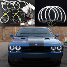 HochiTech ccfl angel eyes kit white 6000k ccfl halo rings headlight for Dodge challenger  2008 2009 2010 2011 2012 2013 2014