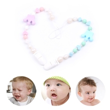 Buy Baby Nipple Clip Soft Silicone Bead Teether Pacifier Crown Infant Soother Holder-m15 for $3.02 in AliExpress store