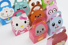 9*6*13CM Cute Little Animal Mousse Cake Box Biscuit Baking Food Packaging Box 100pcs/lot Free shipping(China)