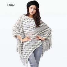 Fashion Spring Autumn Winter Women Sweater Ladies Tassels Poncho Long Knitted Pullovers Knitted Cape Coat(China)