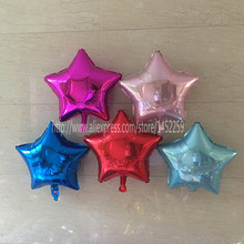 XXPWJFree shipping 5pcs / lot 18 inch monochrome aluminum balloons wedding balloons holiday party decoration pentagram wholesale