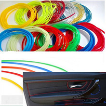 5M Universal Car Styling Flexible Interior Decoration Moulding Trim Decorative Strips Line DIY Sticker 5 Colors Free Shipping