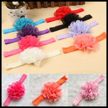 Fashion Girl Lace Flower Hair Band Headband Hairband Hair Accessories 12 Colors Drop Shipping(China)
