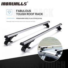 "Ironwalls 47"" 120cm Roof Rack Cross Bars Top Roof Box Luggage Cargo Basket Carrier Bike Rack Silver & Black For Nissan Subaru(China)"