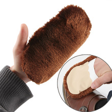 2pcs! New Soft Wool Plush Suede Shoes Cleaner Shoe Care Brush Glove Leather Cleaning Brush Shoe Care Tool(China)