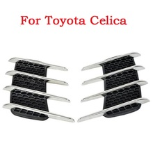 2017 Car Side Bonnet Air Vent Grill Decoration outlet decorative stickers Euro Cuct Side Door Auto for Toyota Celica