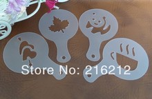 Plastic Coffee stencil 16 pcs per bag coffee mould Cappuccino coffee maker jk17