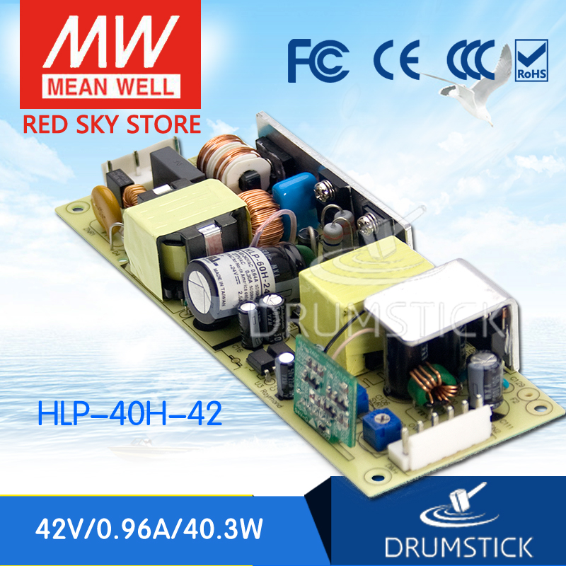 MEAN WELL HLP-40H-42 42V 0.96A meanwell HLP-40H 42V 40.3W Single Output LED Driver Power Supply<br>