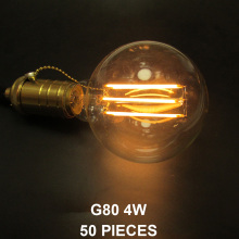 Fast/Quick Delivery Via DHL/FEDEX/UPS/TNT/EMS/ARAMEX/DPEX/E-EMS 50 Pieces G80 E27 Long LED Filament Bulb G25 E26 4W 6W 8W 10W