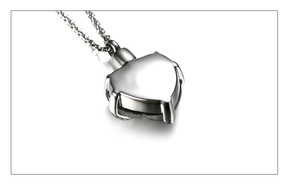 Meaeguet Glass Heart Urn Cremation Ashes Pendant Necklaces For Women Memorial Keepsake Jewelry  You Always In My Heart  (4)