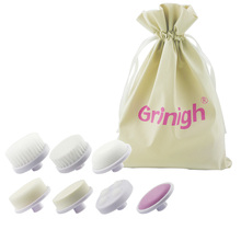 Grinigh 7 Brush Replacement For Electric Facial Body Massager Normal/Ultrasoft/Make up Brush /Latex/Roller Massage/Fine Pumice