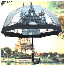 New the Eiffel Tower straight rod transparent Apollo transparent umbrella