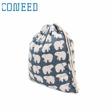 Coneed organizer Organizer Great Pyrenees Bear Drawstring Beam Port Storage Bag Candy Bags Gift Bag u70215(China)