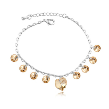 New Charming Classic heart bracelet With Crystals from SWAROVSKI for mother's day gift wholesale bijoux