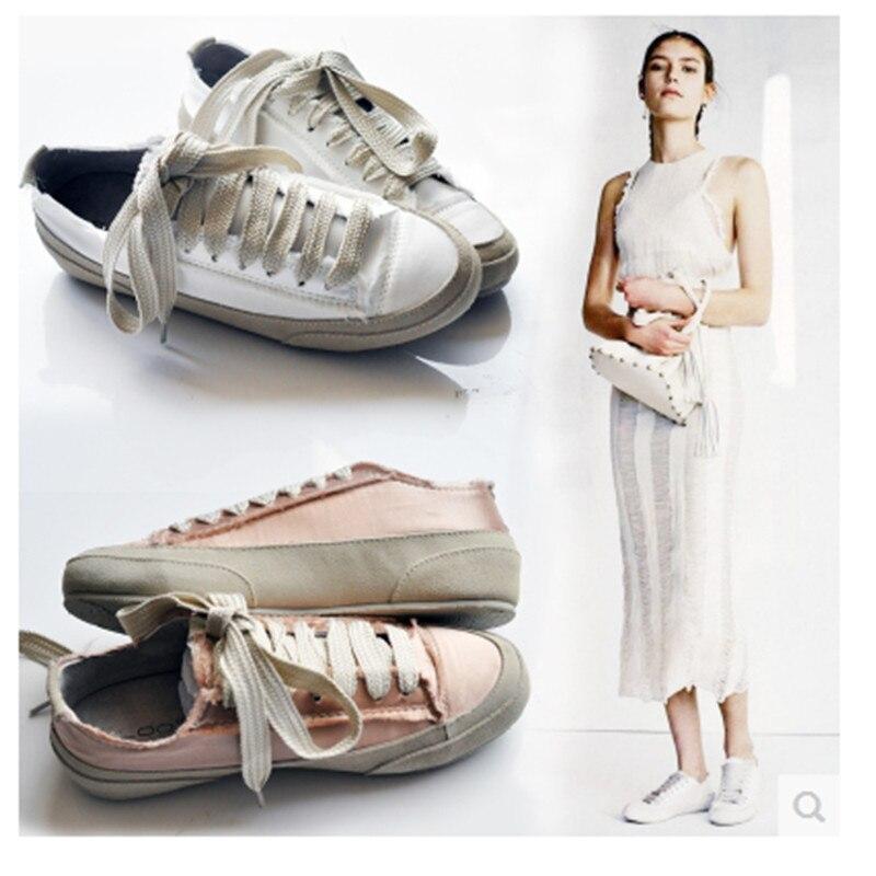 HOT Espadrilles Womens Spring Shoes 2017 European Silk Flat Round toe Lace Up Shoe Casual Shoe Woman Plus Size Women Shoes White<br><br>Aliexpress
