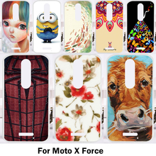 Mobile Phone Cases For Motorola Moto X Force Cover XT1585 XT1581 Droid Turbo 2 XT1580 Soft TPU Silicon DIY Painting Bags Housing