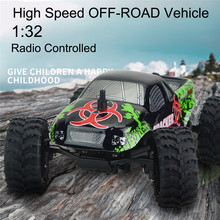 High Quality virhuck 1:32 Scale Rc Monster Truck Radio Remote Control Buggy Big Wheel Off-Road Vehicle(China)