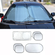New Car Window Sun Shade Car Windshield Visor Cover Block Front Window Sunshade UV Protect Car Window Film 6pcs/Set(China)