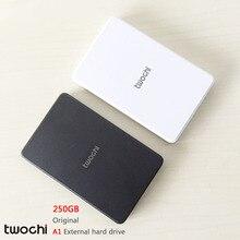 Бесплатная доставка 2016 Новый стиль 2.5 дюймов Twochi A1 USB2.0 HDD 250 ГБ тонкий внешний жесткий диск портативный дисковое хранилище оптовая продажа цена