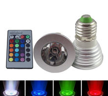 New AC 110-220V 5W Watt E27 base Color Change Endless RGB Light Bulb with Remote exhibition bars shop store