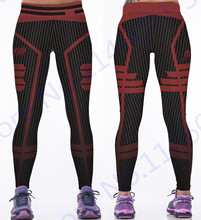 Red Daredevil Fitness Pants Red Honeycomb Yoga Leggings High Waist Jogging Tights Black Polka Dot Women Sports Pants