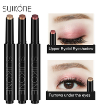 SUIKONE Brand Shimmer Color Pigment Eyeshadow Pencil Glitter Highlighter Eye Shadow Pen Furrows Under the Big Eyes Makeup Sticks(China)