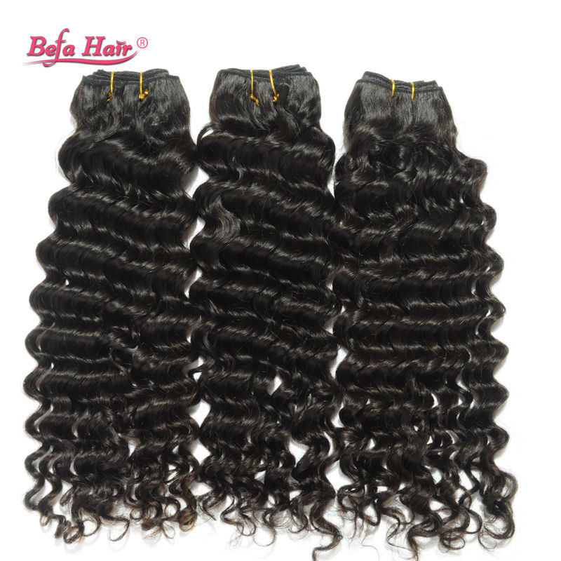 Befa Hair Products Brazilian Virgin Human Hair Weave Deep Wave 1pcs Unprocessed Vigin Brazilian Hair Deep Wave Natural color<br><br>Aliexpress