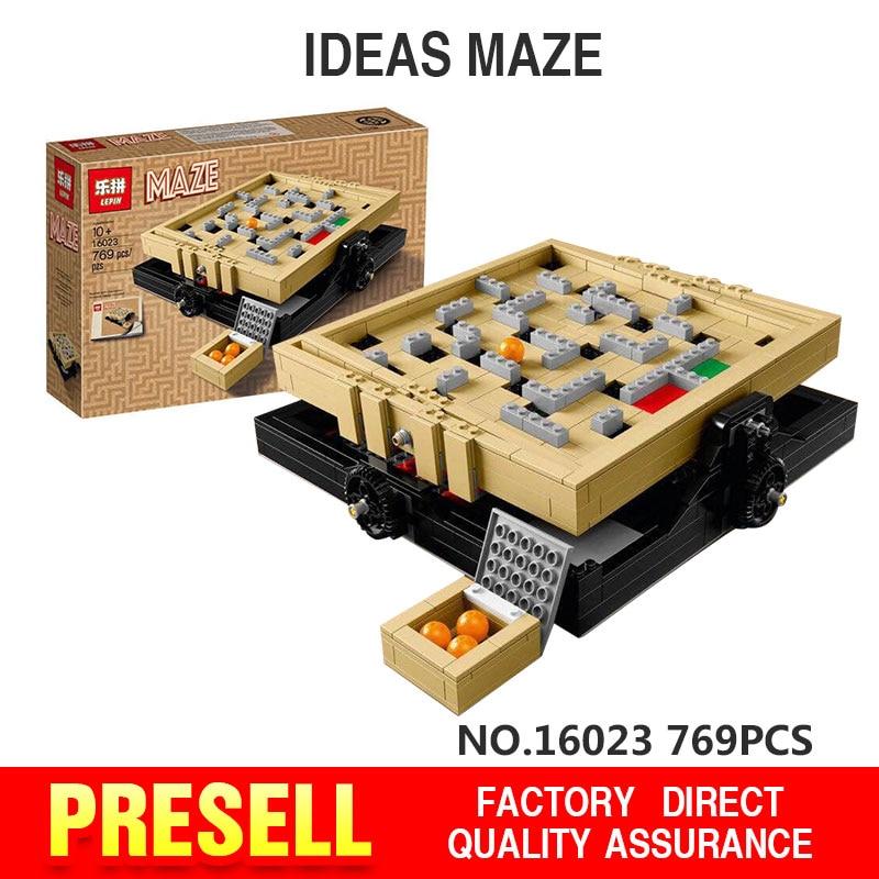 2017 New LEPIN 16023 769Pcs Creative Series Ideas Maze Model Building Kit  Blocks Bricks Compatibl Toy Gift With 21305<br><br>Aliexpress
