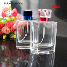 Wholesale And Retail 100ml 5pcs/lot Glass Small Clear Empty Perfume Bottle Travel Refillable Bottles(China)
