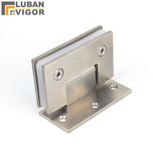 Unilateral bathroom glass clamp,Solid stainless steel bathroom folder ,Hinge,90 degrees,hardware for wall install(China)