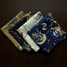 52*52CM Men's Big Square Handkerchiefs Ethnic Style Printing Cotton Thick Hankies High Quality Casual Male's Pocket Towel SY518