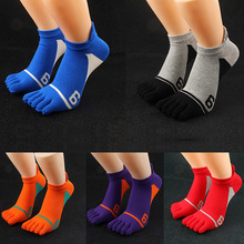 5 Pairs New Mens Socks Cotton Five Finger Socks Casual Toe Socks Breathable Calcetines Ankle Socks
