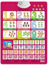 Number Learning card book 1-100 Baby sound wall chart Early educational Enlightenment Electronic Learning Machine toys for kid